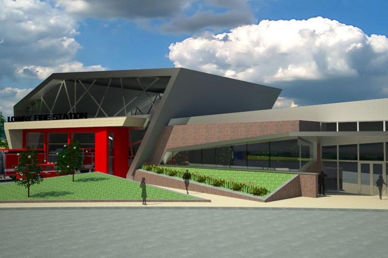 Lowry Fire Station Conceptual Drawings- Denver, CO