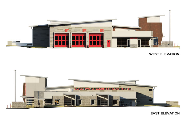 SWEETWATER COUNTY FIRE DISTRICT #1 (STATION #2) Elevations